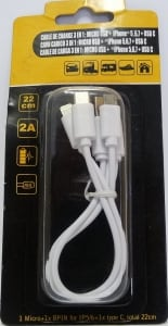 CAVO RICARICA 3 IN 1 (MICRO USB IPHONE 6 - SAMSUNG)